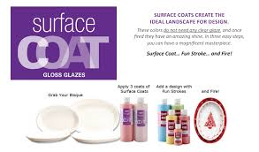 gare surface coats for ceramics bisque and pottery painting