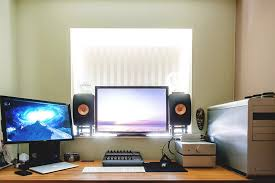 furniture office workspace cool macbook air. is a 30u2033 ips panel from nec fantastic colour to the left 24u201d benq used as secondary display underneath an apple macbook air furniture office workspace cool