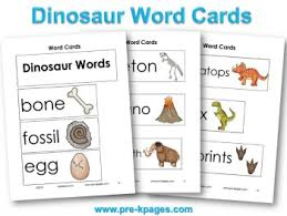 Free Printable Pocket Chart Cards Dinosaur Theme Preschool Lesson Plans And Activities