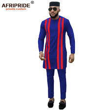 New Clothes Design 2019 Man 2019 African Men Clothing 3 Piece Outfit Shirt Pant Hat Tribal Blouse Dashiki Tops Print Clothes Plus Size Afripride A1916006