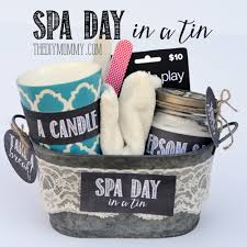 a creative gift basket idea spa day in a tin put a candle