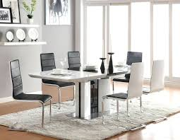 White Leather Stainless Steel Dining Chairs Cosmopolitan Modern Inspiration  Room Chic Acrylic Square Single Base Tone