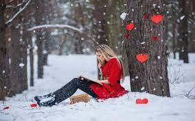 Winter Love HD wallpaper
