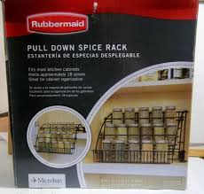 Rubbermaid Coated Wire In Cabinet Spice Rack Rubbermaid 100 Pull Down Spice Rack Holder eBay 81