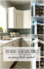 how to add height to kitchen cabinets no power tools needed