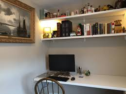 cheap office shelving. I Made A Home Office Desk And Shelves From Two Cheap IKEA Countertops. Shelving L