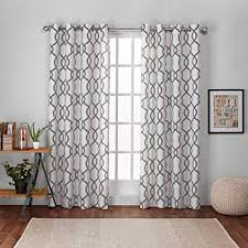 exclusive home kochi linen blend window curtain panel pair with grommet top black pearl