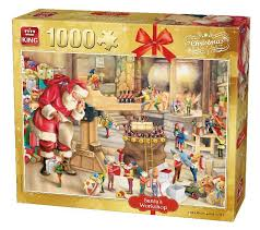 dels about 1000 piece jigsaw puzzle father santa s work grotto 5350