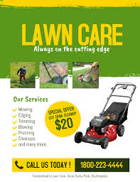 Lawn Mowing Ads Lawn Care Service Flyer Template Postermywall