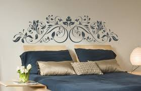 wall decal headboard for kids rooms