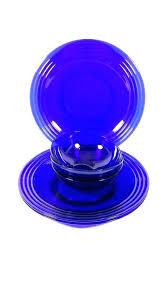 blue glass dinner plates cobalt blue glass dinnerware vintage plates bowls service for 3 6 pieces blue glass dinner plates