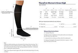 Therafirm Sheer Womens Knee High Stockings 15 20mmhg