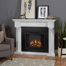 real flame verona electric fireplace lifestyle white