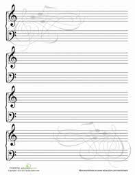 Blank Sheet Of Music Blank Sheet Music Worksheet Education Com