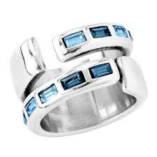 Купить <b>Кольцо</b> с кристаллом Swarovski <b>UNOde50</b> ...