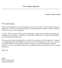 Letter Of Complain Template Customer Complaint Response Letter Template