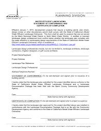 Certificate Of Landscape Design Marin County