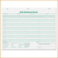 Employee Attendance Record Template Awesome Template Sample Of Daily Attendance Record Template For 8