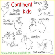 Small Picture Continent Kids Free Printables world geography Bilingual