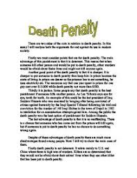 essay against the death penalty co essay