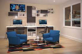 wall desks home office. dual desks home office workstation desk wall