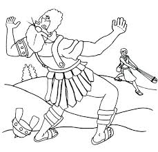 David And Goliath Coloring Page Bible Story Coloring Page For And