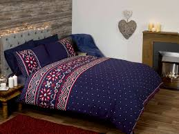 nordic blue white red quilt duvet cover bedding
