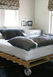 diy pallet bed wheel