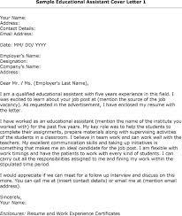 Teacher Assistant Cover Letter Samples Ta Cover Letter Barca Fontanacountryinn Com