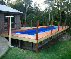 above ground fiberglass swimming pool diy