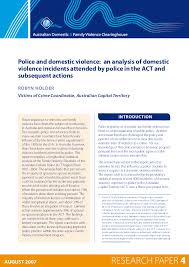 Pdf Police And Domestic Violence An Analysis Of Domestic