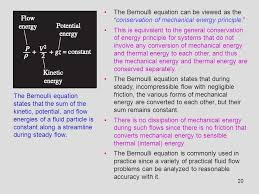 the bernoulli equation can be viewed as the conservation of mechanical energy principle