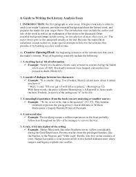 a guide to writing the literary analysis essay writing  a guide to writing the literary analysis essay