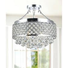silver orchid chrome and crystal semi flush mount chandelier antonia 4 light