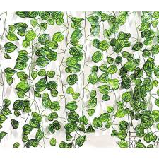 artificial ivy vine leaf garland plants decoration fake foliage flower watermelon leaf 0