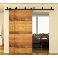 interior barn door hardware. 10-16FT Interior Barn Door Kits Sliding Track Rustic Wood Hardware Steel American Arrow I