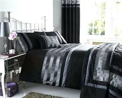 king size duvet cover sets king size duvet set black silver grey satin quilt cover with