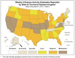 2011 2012 dshs flu report week 9 Fluview Map national influenza activity map fluview map 2017