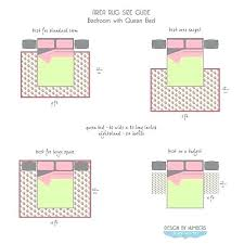 what size rug area throw rug for king size bed
