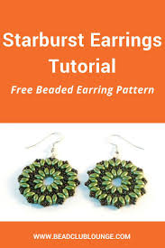 Beaded Earring Patterns For Beginners Simple Design
