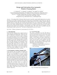 (PDF) Design and fabrication of an automatic <b>window cleaning robot</b>