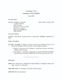 Position For Professor Of Economics Resume Sample