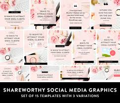 Social Media Design Templates Canva Social Media Templates For Female Entrepreneurs Bloggers