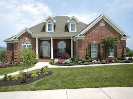 brick home designs ideas. design ideas, standard brick house act american style: elegant classic home designs ideas p