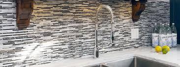 black white backsplash tile
