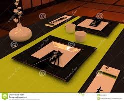Japanese Style Table Setting Table Setting In Japanese Style Stock Photo Image 62545819
