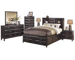 Amazon.com: Ashley Kira 6PC Bedroom Set Queen Storage Bed Dresser ...
