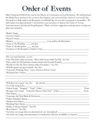 wedding reception agenda template wedding agenda template blogihrvati com
