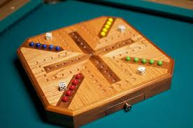 Wooden Aggravation Board Game Inlaid Wooden Maple and Walnut Aggravation Board Marbles Board 29