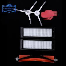 <b>6pcs Vacuum Cleaner</b> parts 2 side brush 2 x <b>HEPA filter</b> 1 main ...